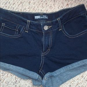 Girls Levi's knit shorty shorts Sz 16